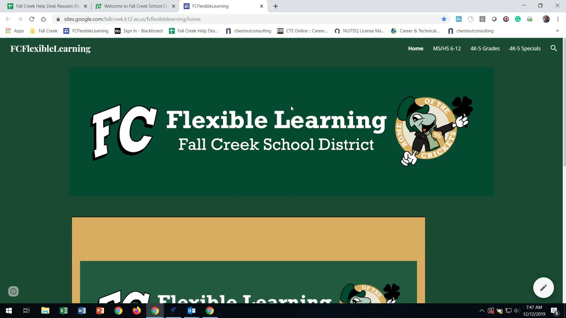 Flexible Learning Site