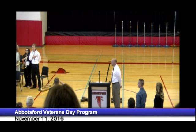 Abbotsford Veterans Day Program November 11, 2016
