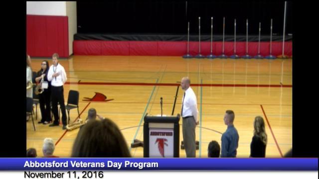 Abbotsford Veterans Day Program November 11, 2016