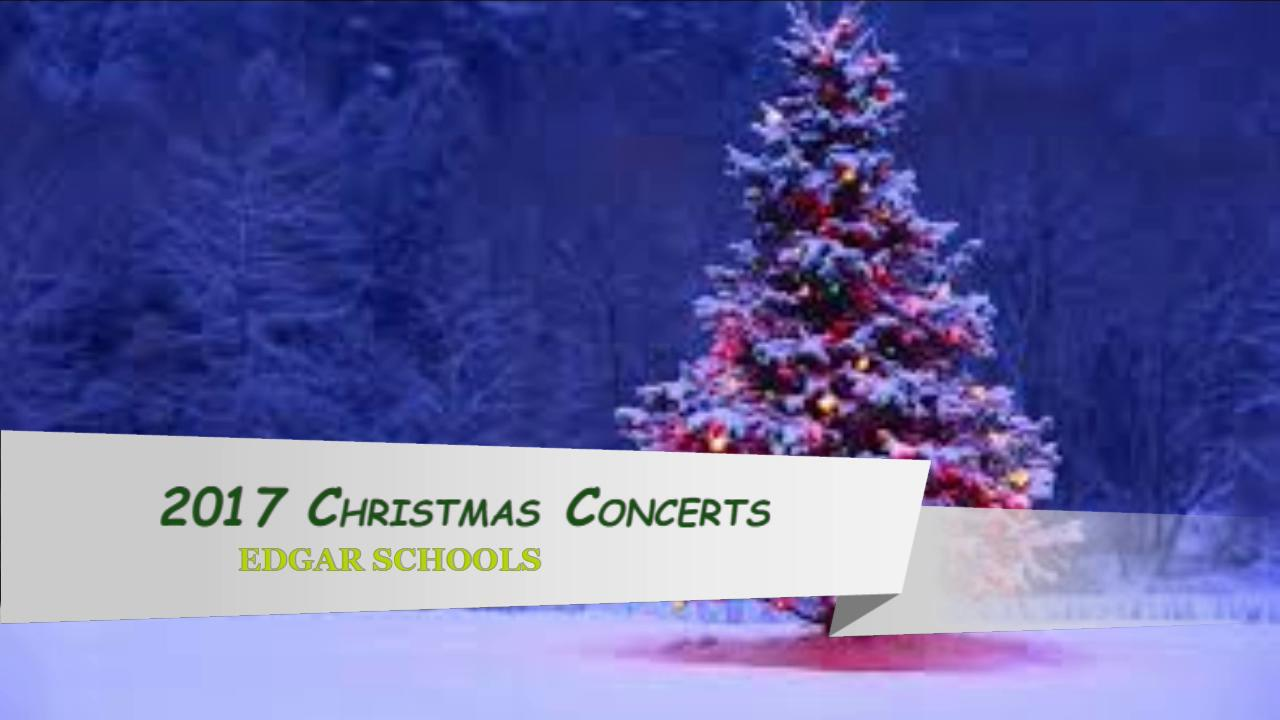 2017 K-2 Christmas Concert