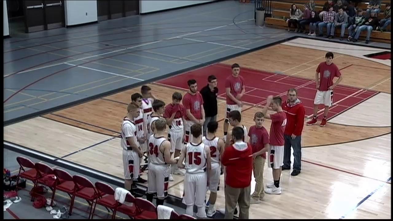 Boys BB vs. Marshfield Columbus Catholic  2-21-18