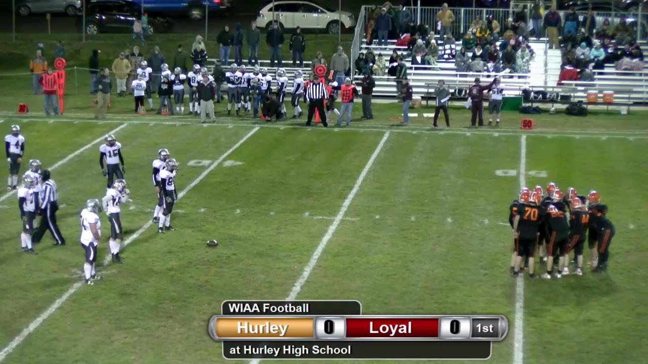 FB WIAA Level 1 Playoff Loyal at Hurley