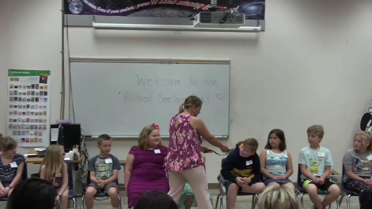 Hillcrest Spelling Bee May 2018