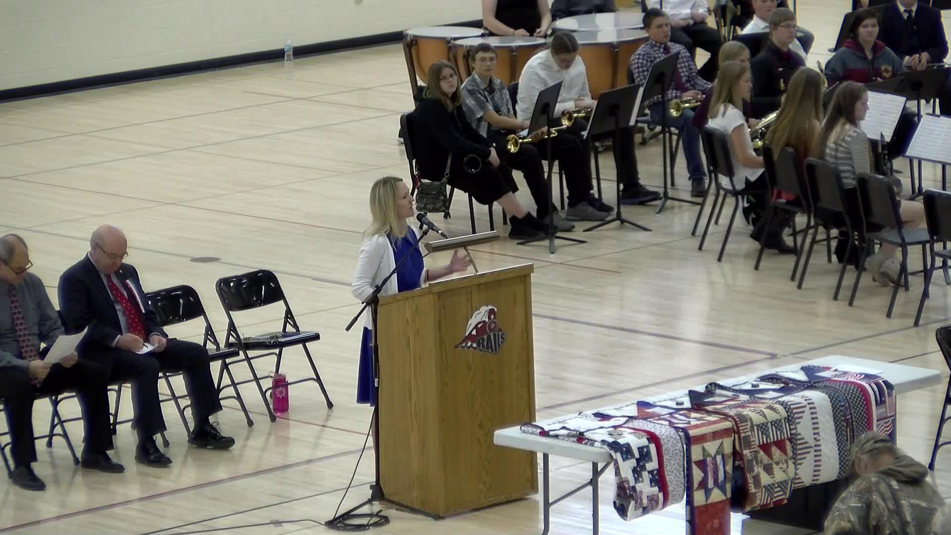 Spooner High School Veterans Day program.