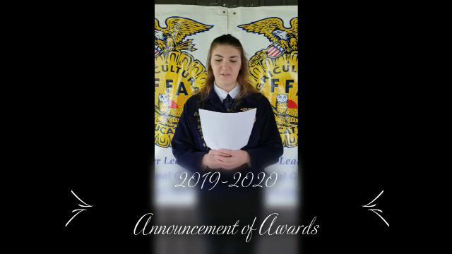 2020-2021 FFA Announcement of Awards