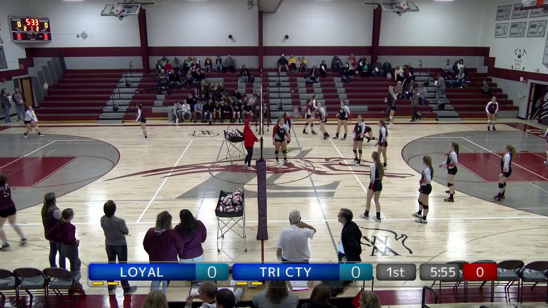 WIAA VB Tri County at Loyal