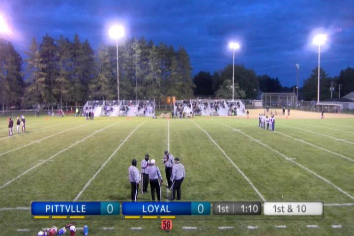 Varsity Football Pittsville at Loyal