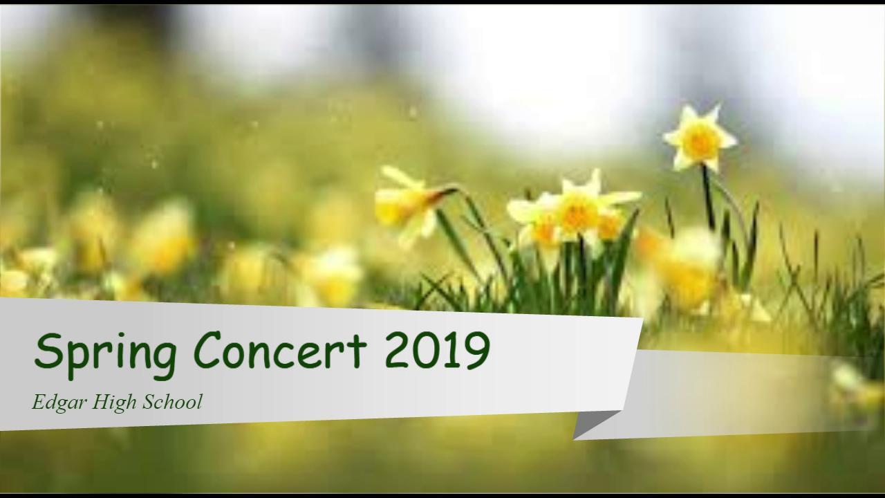2019 HS Spring Concert