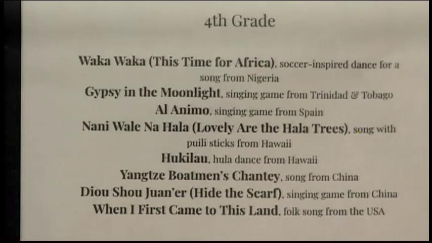 4th Grade Spring Concert (Clip)