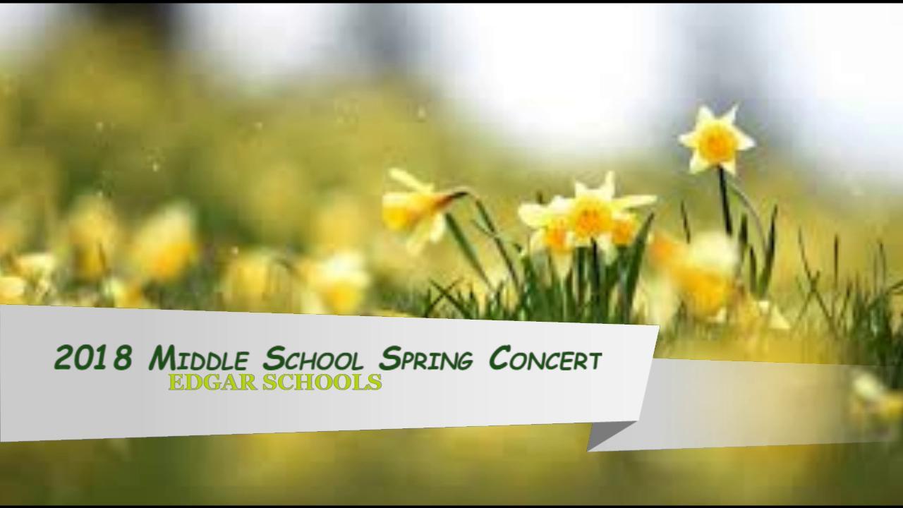2018 MS Spring Concert
