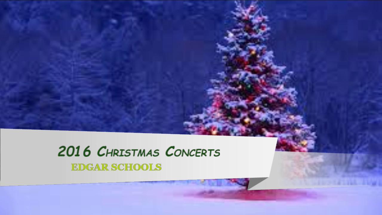 2016 Xmas Concert - HS Concert
