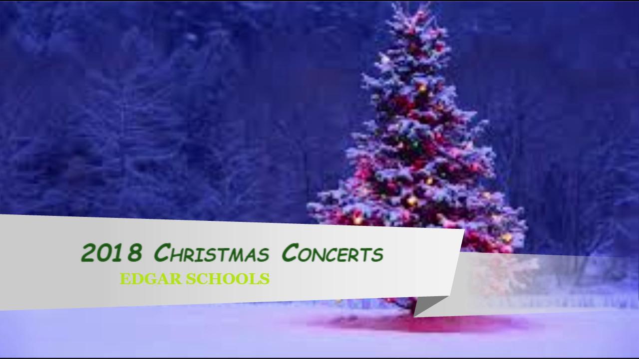 2018 Elementary Christmas Concert